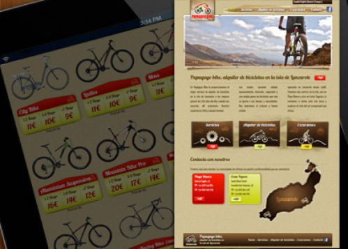 Diseño web Corporativa Papagayo Bike